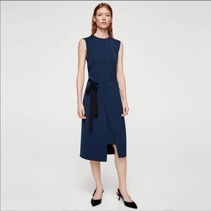 NWOT Mango Boti Midi Wrap Dress